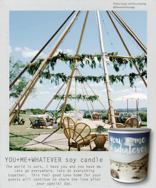 Wedding + Events Midi Soy Candle || You+Me+Whatever