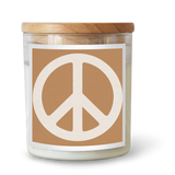 Peace Sign / TAN Candle