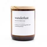 Dictionary Meaning Soy Candle - wanderlust