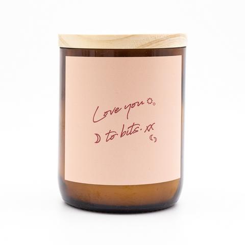 Happy Days Soy Candle - Love you to Bits