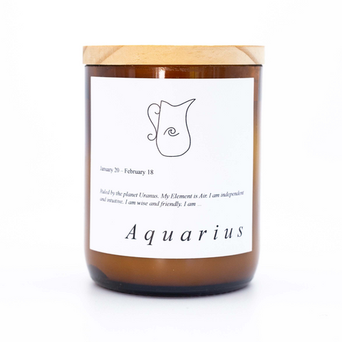 Zodiac Mid Candle - Aquarius