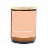 Heartfelt Quote Candle - thank you