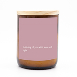 Heartfelt Quote Candle - thinking of you.