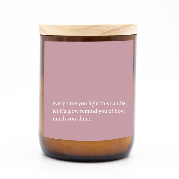 Heartfelt Quote Candle - you shine