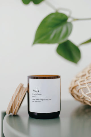 Dictionary Meaning Soy Candle - wife