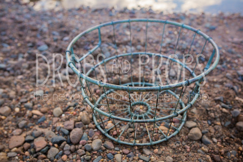 Metal Basket ~ Sage