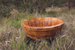 Large Antique Replication Bowl ~ Medium Stain