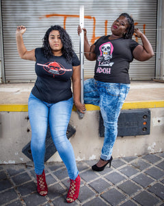 TEAM UNSPOKEN MODEL : BARBARA PEREZ - PROMISED RETALIATION , MICHELLE COES - SAY LESS...ADÜH!  PHOTO CREDIT : BEN TURRELL ..
