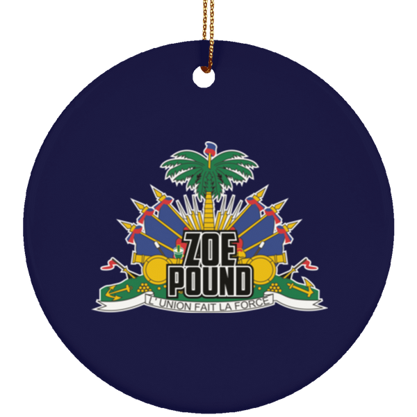 ZOE POUND ORNAMENT (SUBORNC Ceramic Circle Ornament)
