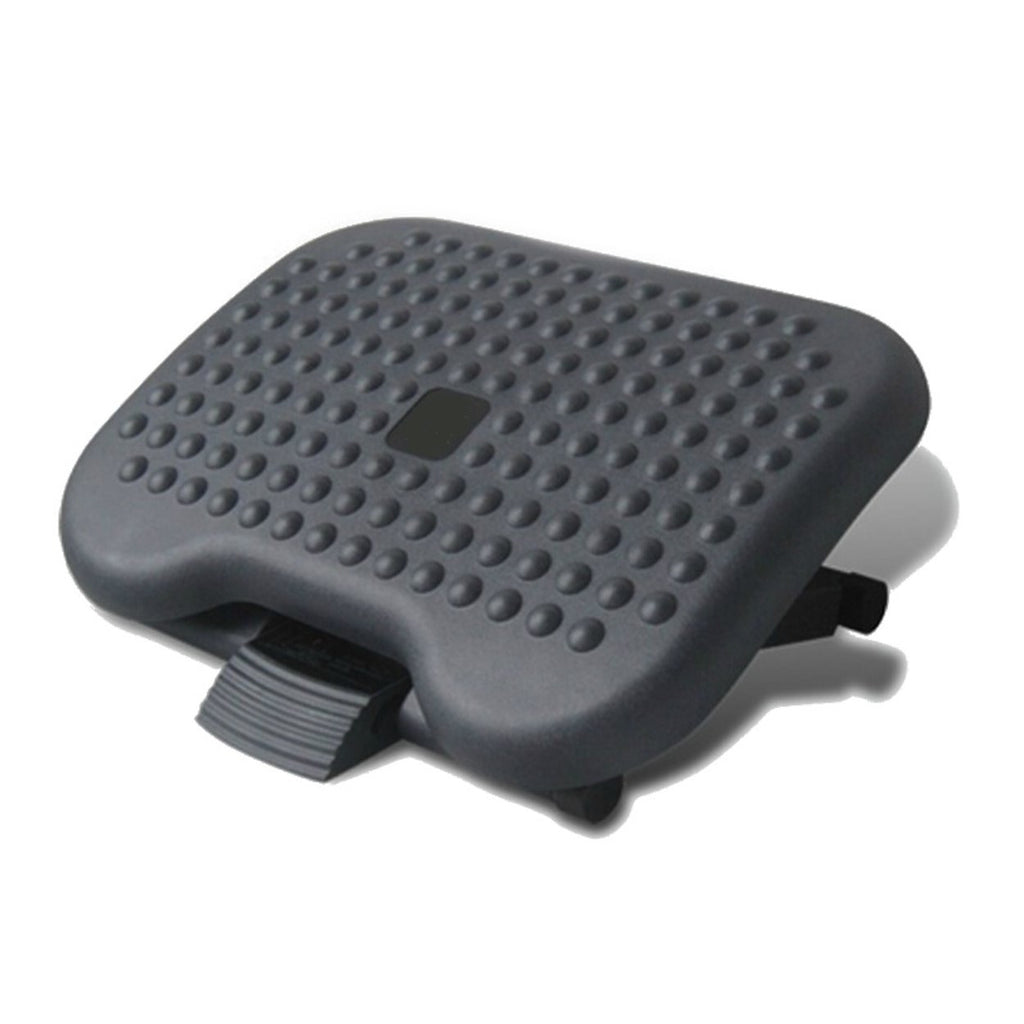 Ergonomic Foot Rest with Massage Beads Adjustable Height and Angle