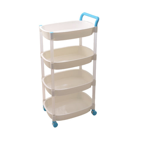 Versatile Storage Push Cart Storage Organizer - 2 / 3 / 4 Tiers
