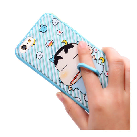 iPhone6 Cartoon Casing with Ring Holder and Stand