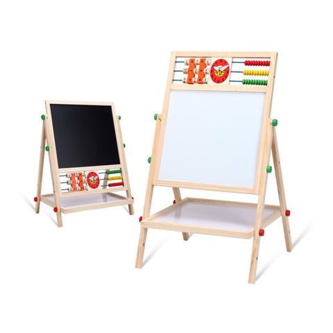 Doubled-sided Blackboard and Whiteboard mini-Easel