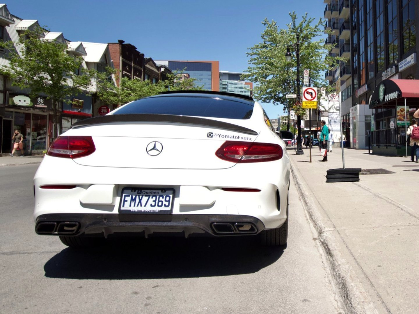 AMG PERFORMANCE DIFFUSER -  - Yomato Carbon - Montreal Canada