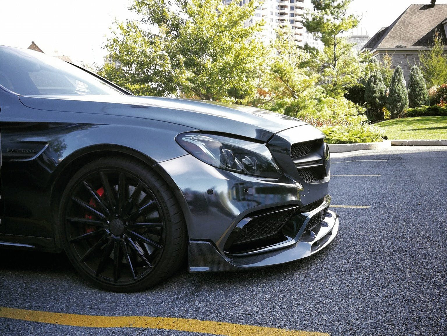 BRS STYLE FRONT LIP (C63 AMG ONLY) -  - Yomato Carbon - Montreal Canada