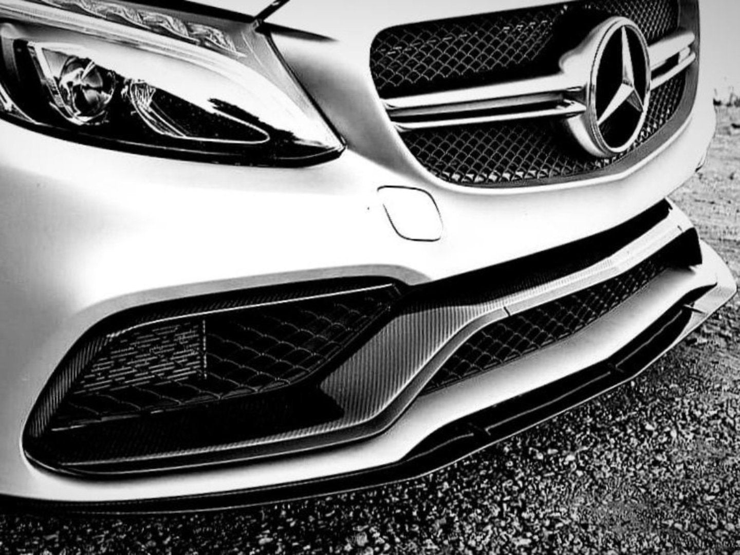 ED1 FRONT LIP (C63 AMG ONLY) -  - Yomato Carbon - Montreal Canada