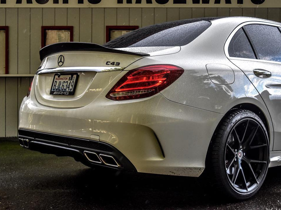C63 AMG SEDAN CONVERSION DIFFUSER KIT (AMG PKG ONLY) -  - Yomato Carbon - Montreal Canada