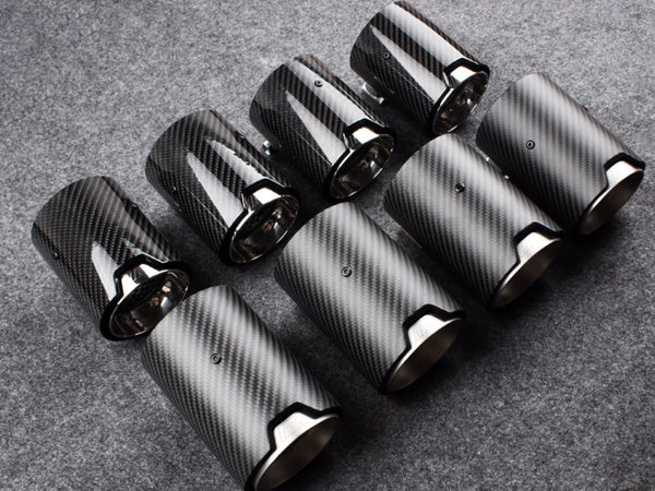 M PERFORMANCE EXHAUST TIPS - F85 F86 X5 M X6 M - Exterior Accessories - Yomato Carbon - Montreal Canada