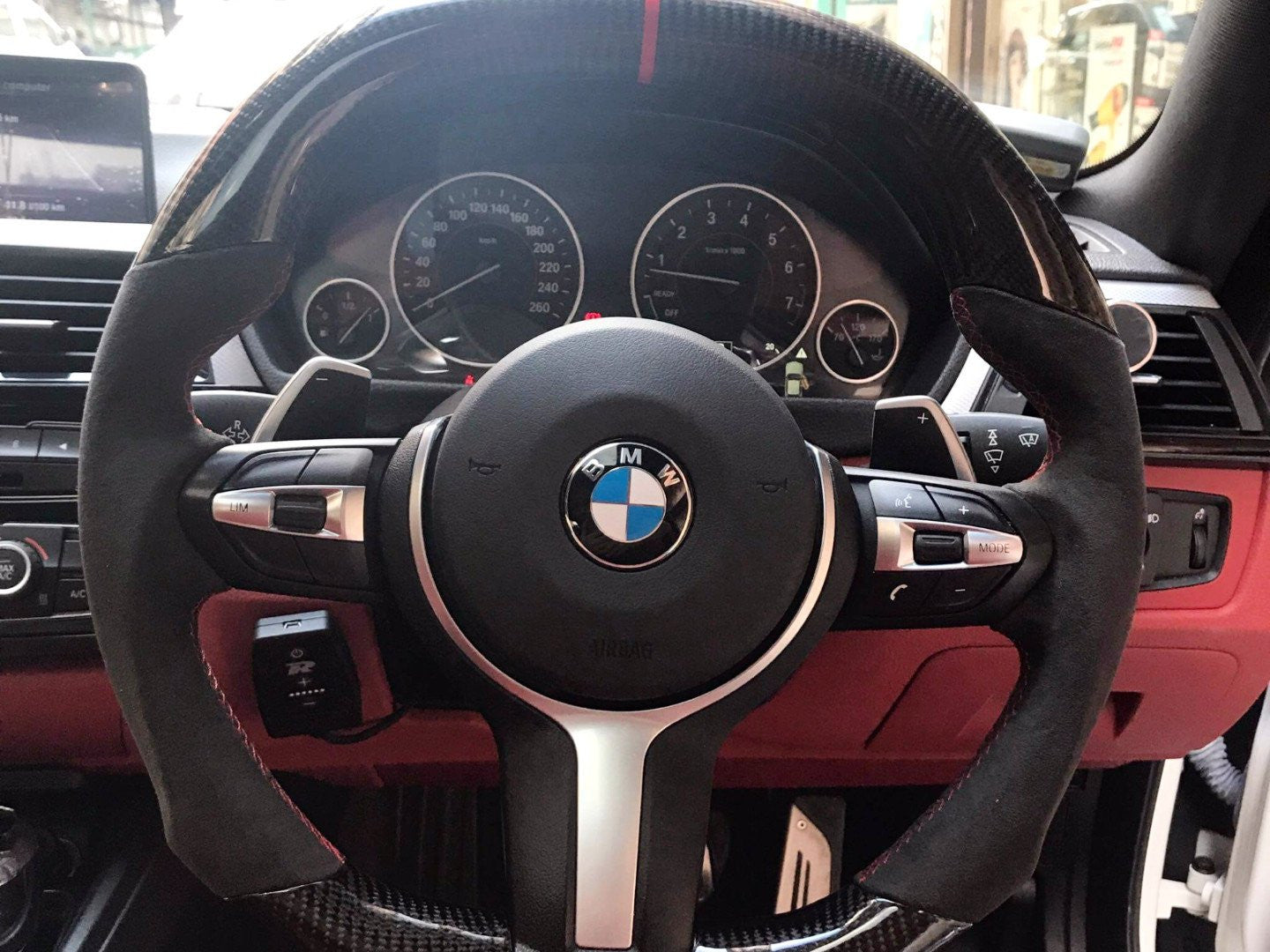 BESPOKE M PERFORMANCE STEERING WHEEL (2/3/4 ONLY) -  - Yomato Carbon - Montreal Canada