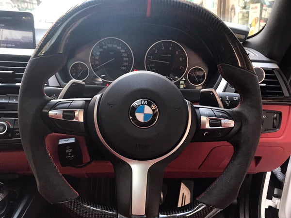BESPOKE M PERFORMANCE STEERING WHEEL (5/6 ONLY) - Interior Accessories - Yomato Carbon - Montreal Canada