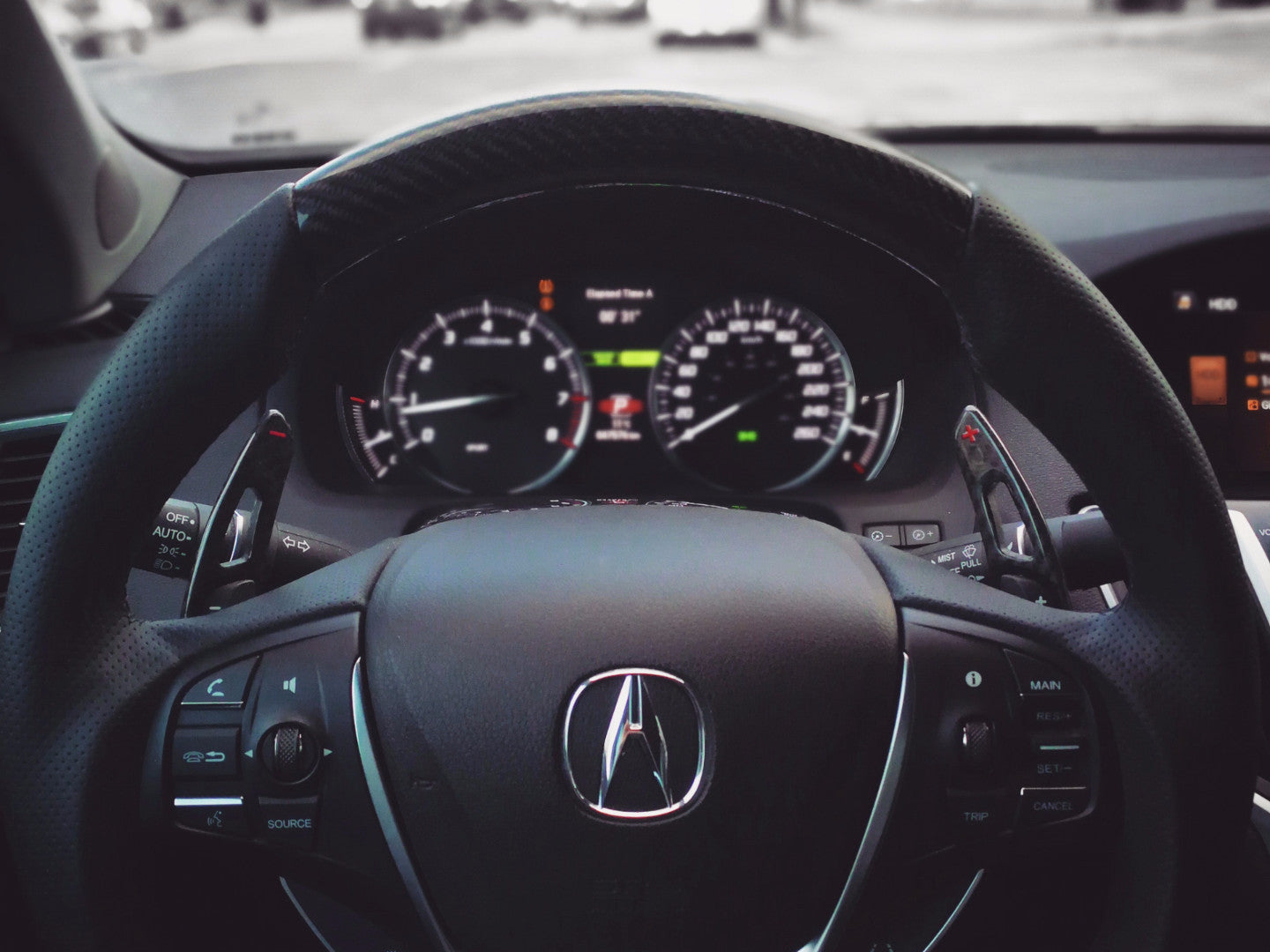 BESPOKE TLX STEERING WHEEL - Interior Accessories - Yomato Carbon - Montreal Canada