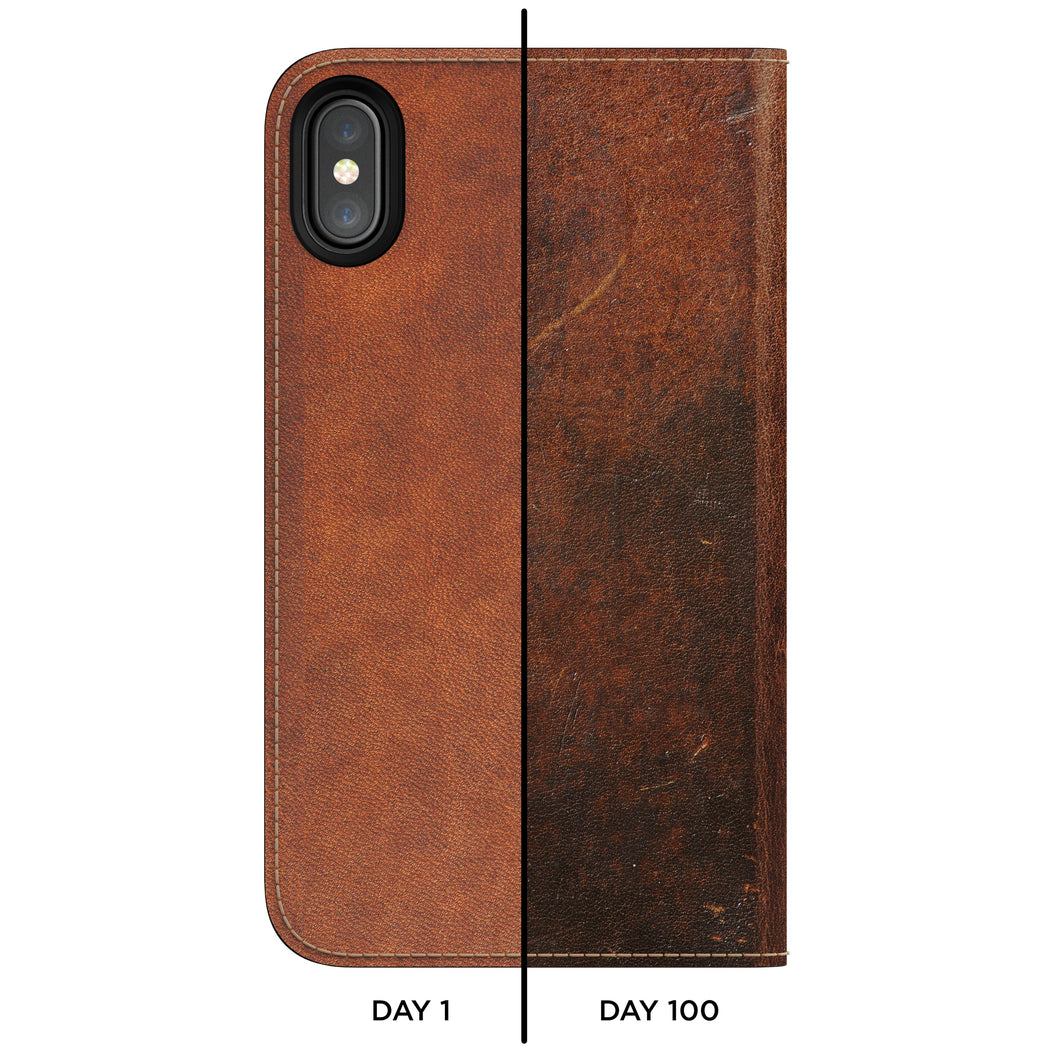 Nomad Horween Leather Folio for iPhone X