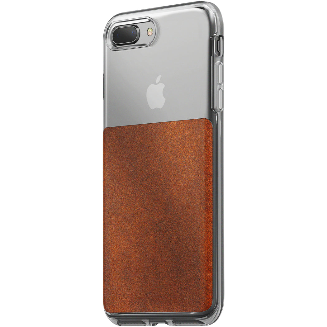 Nomad Horween Leather Clear Case for iPhone 7/8 Plus