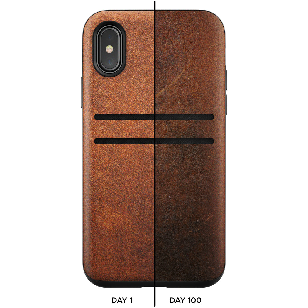 Nomad Horween Leather Wallet Case for iPhone X