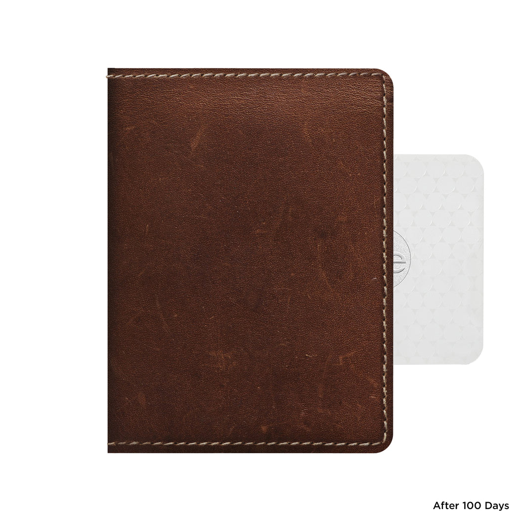 Nomad Slim Wallet with Tile Tracking - Rustic Brown
