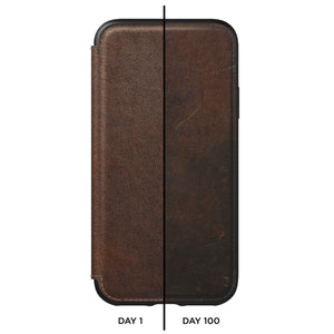 Nomad Horween Leather Rugged Folio for iPhone XR