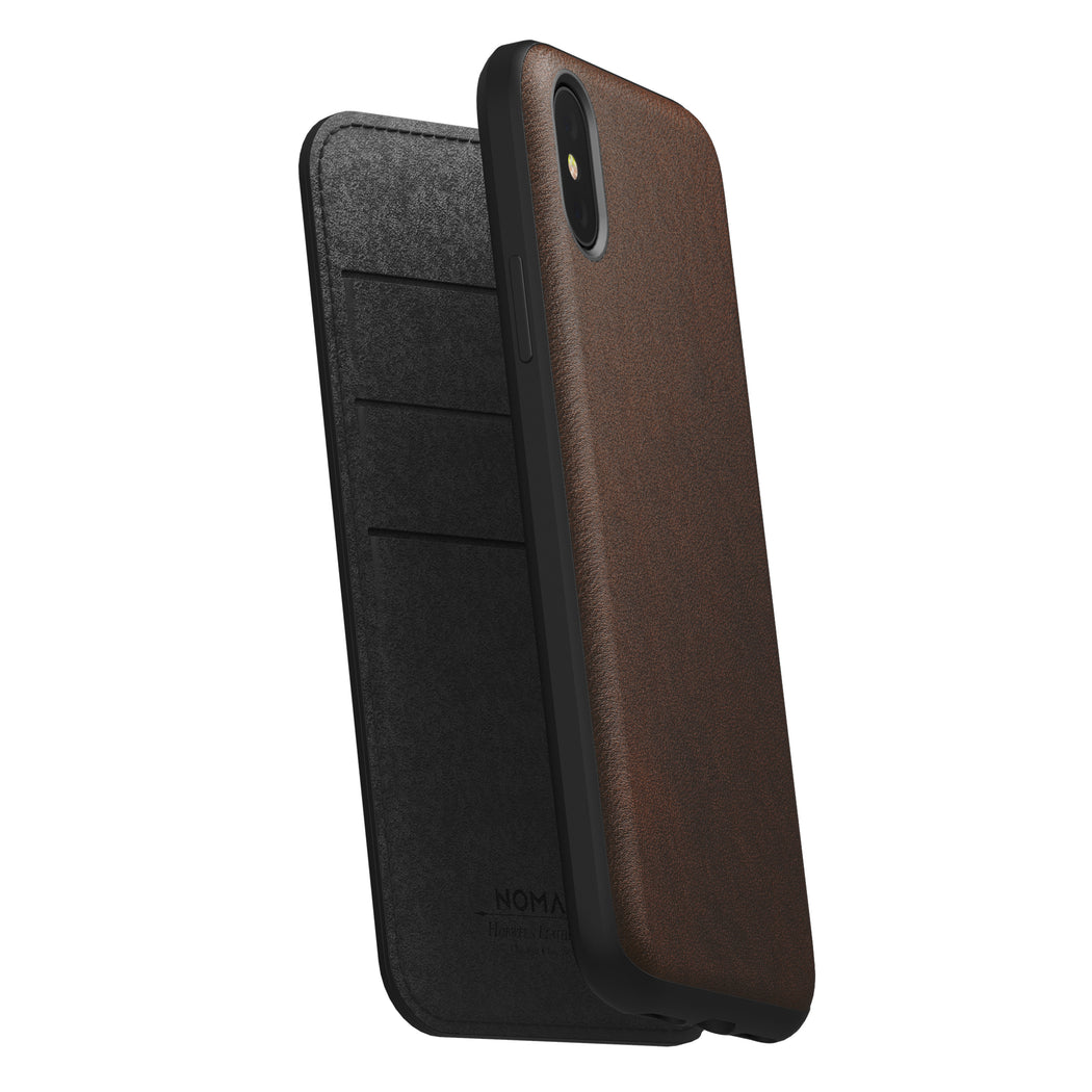 huge discount f04a3 5d1ea Nomad Horween Leather Rugged Folio for iPhone X / XS
