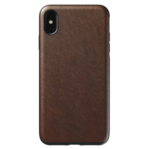 Nomad Horween Leather Rugged Case for iPhone XS Max