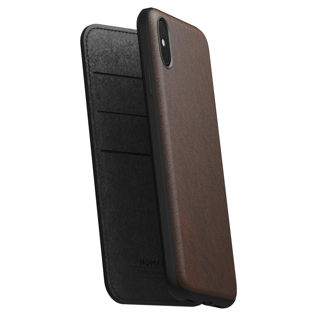 Nomad Horween Leather Rugged Folio for iPhone XS Max