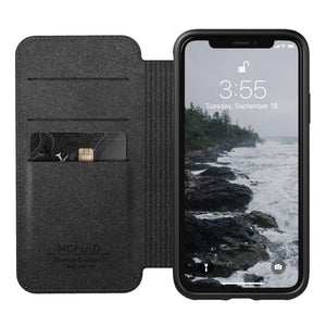 Nomad Horween Leather Rugged Folio for iPhone X / XS