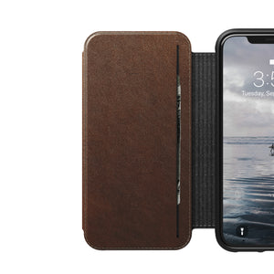 Nomad Horween Leather Rugged Tri-Folio for iPhone X / XS