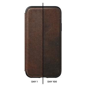 Nomad Horween Leather Rugged Tri-Folio for iPhone XS Max
