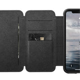 Nomad Horween Leather Rugged Tri-Folio for iPhone XR