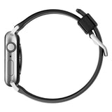 Nomad Rugged Silicone Strap for Apple Watch - Silver Hardware