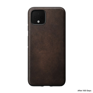 Nomad Leather Rugged Case for Google Pixel 4 - Rustic Brown