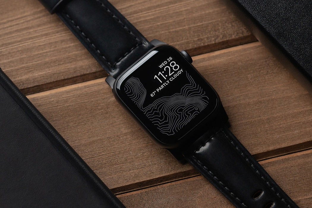Nomad Shell Cordovan Strap for Apple Watch - Black Hardware