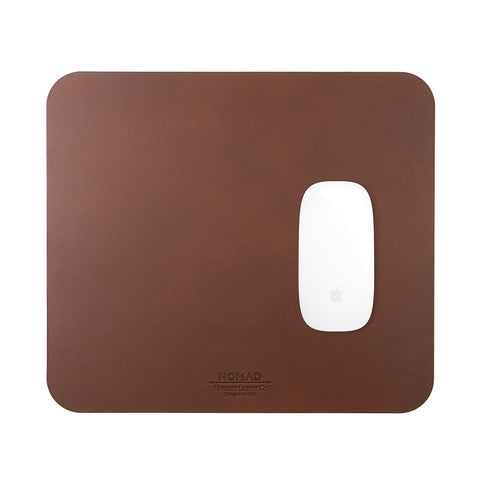 Nomad Horween Leather Mousepad - Rustic Brown