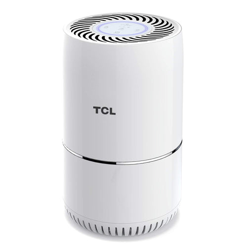 TCL Air Purifier True HEPA Filter 3in1, Smoke Odors Allergies Remover, Wildfire Ashes, Dust, Pollen, Pet Dander Eliminator, Quite Operation with Safety Lock and Optional Night Light (Available for California)