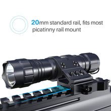 Load image into Gallery viewer, CISNO Quick Release 45° Offset Mount 1000 Lumens L2 LED Tactical Flashlight Torch with Remote Pressure Switch