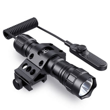 Load image into Gallery viewer, CISNO 1000LM LED Tactical Flashlight Torch Pressure Switch with 1'' Offset Mount