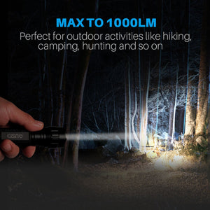 CISNO 1000 Lumens Tactical LED Flashlight with Upgraded Remote Pressure Switch and Offset Mount