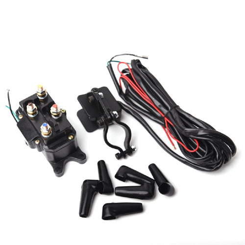 12V Solenoid Relay Contactor & Winch Rocker Thumb Switch Combo for ATV UTV