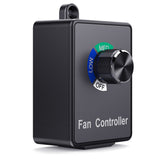 CISNO Variable Fan Speed Controller Hydroponics Air Duct Booster Inline Blower Exhaust