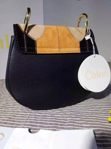chloe fake handbags - Chlo�� Drew Small Flower Patchwork leather and suede shoulder bag ...