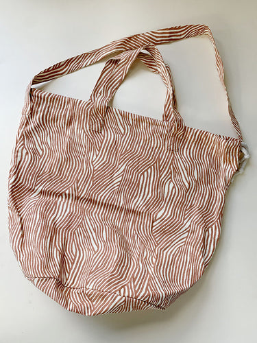 Haps Nordic Shopping bag Shopping bag Terracotta Wave