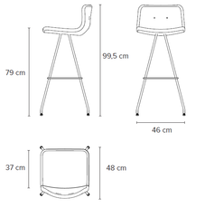 Bent Hansen Primum Bar Stool High